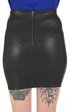 Mini jupe cuir stretch