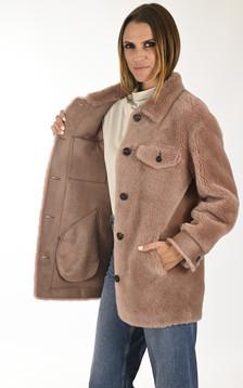 Veste laine Penelope vieux rose