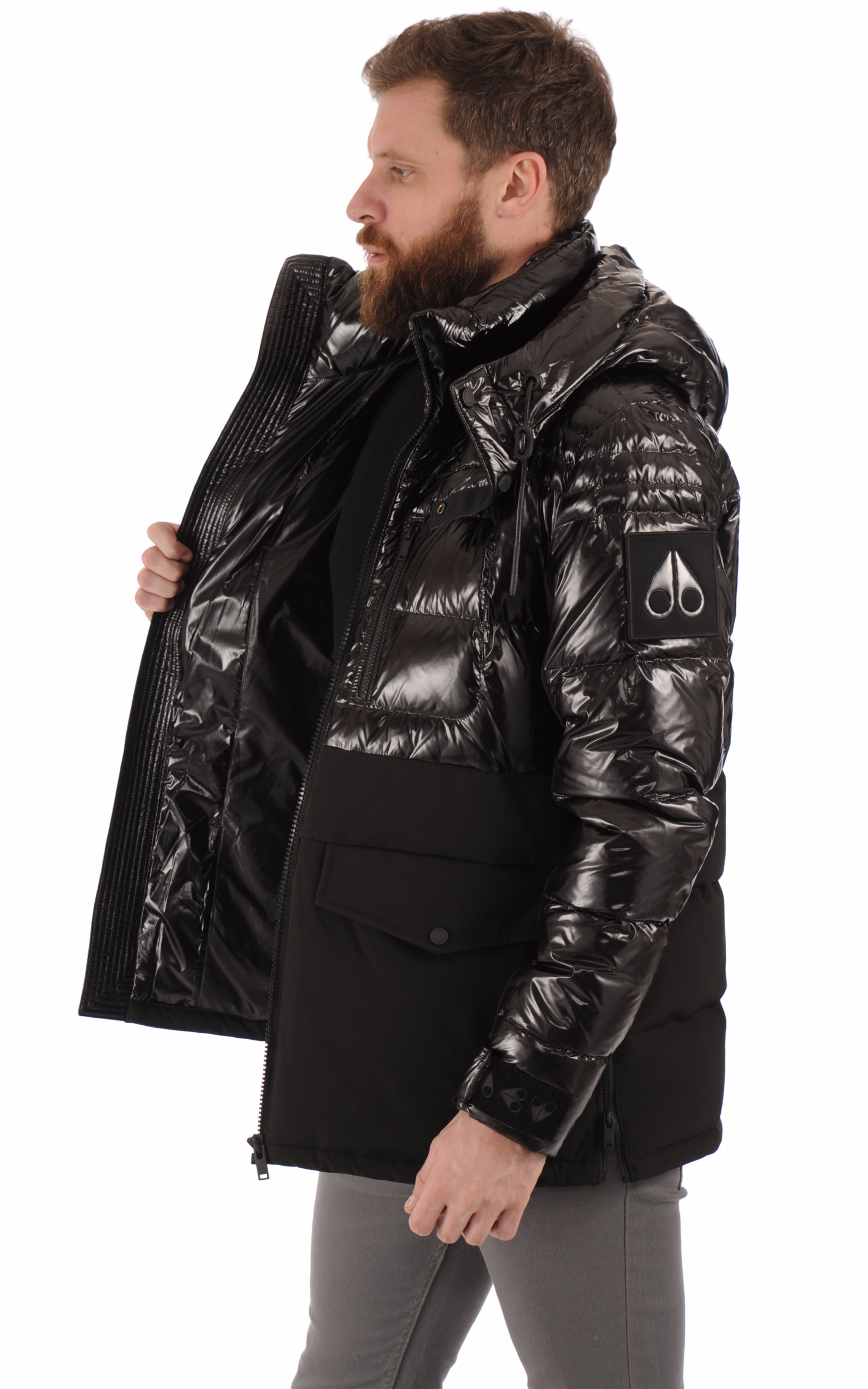 Doudoune bi-matière DUGALD noir Moose Knuckles