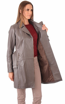 Trench Cuir Femme