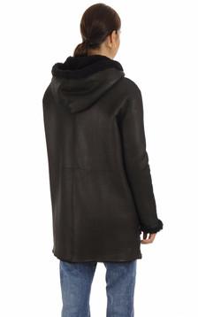 Manteau réversible Eden noir