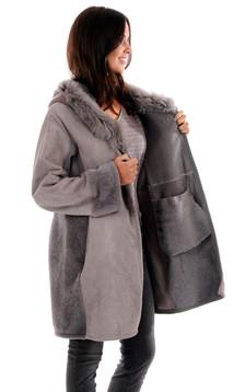 Manteau toscane velours