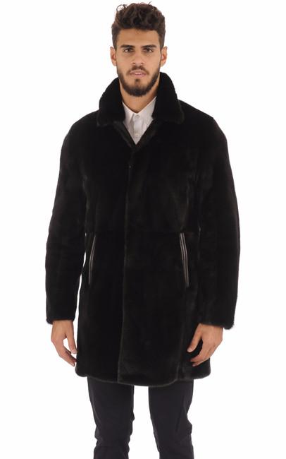 manteau en vison finlandais noir homme gallotti la. Black Bedroom Furniture Sets. Home Design Ideas