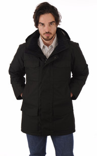 Parka Windermere Black Herringbone1