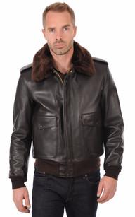 veste en cuir homme schott