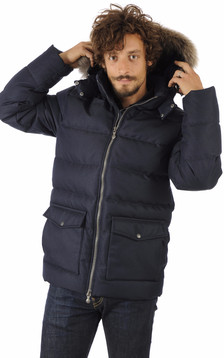 Doudoune Authentic Jacket Drill Bleue1