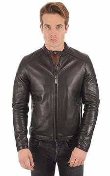 Blouson Style Motard Noir1