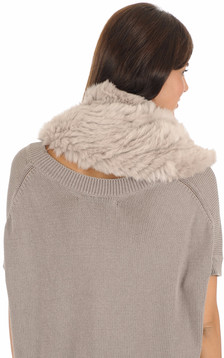 Snood en lapin taupe