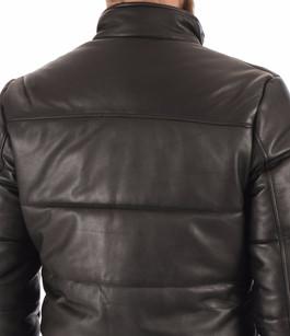 Doudoune cuir Lcnewark noir Schott