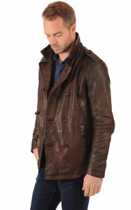 Veste Cuir Style Caban