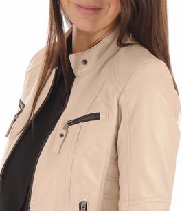 Blouson Cuir Femme Blanc La Canadienne