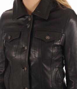 Blouson Femme Jeans Girl Noir Serge Pariente