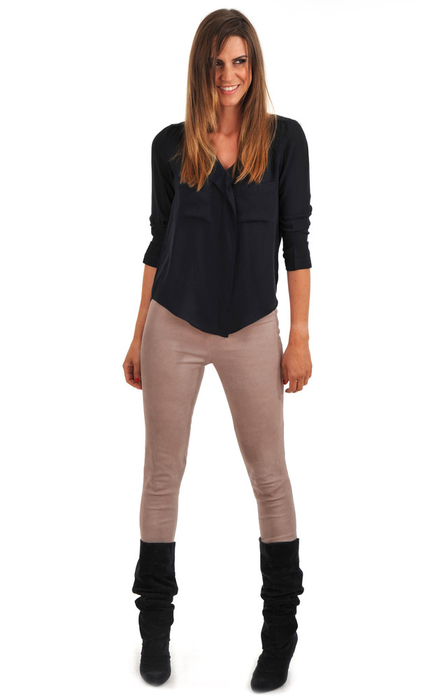 legging cuir stretch femme lou andrea la canadienne pantalon short cuir rose. Black Bedroom Furniture Sets. Home Design Ideas