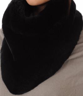 Large Snood Noir Fourrure Rex Soia & Kyo