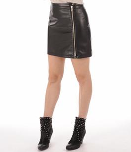 Mini jupe agneau noir Serge Pariente