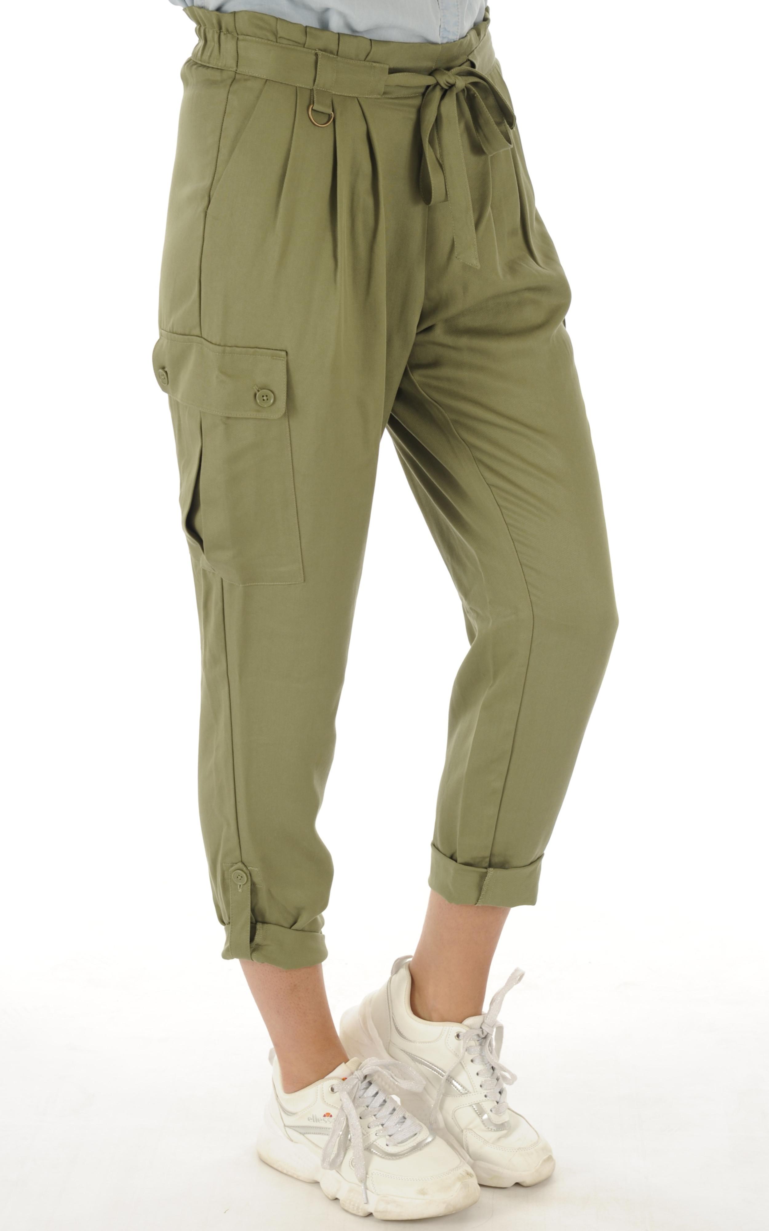 Pantalon en tencel kaki Schott