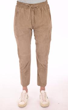 Pantalon jogpant velours beige