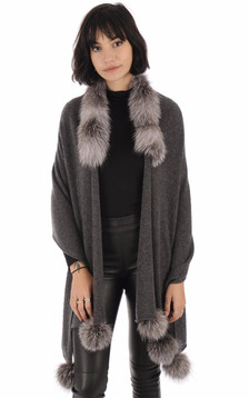 Poncho FinRaccoon gris