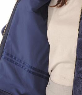Veste Fourrure Bleue de Rex Suprema