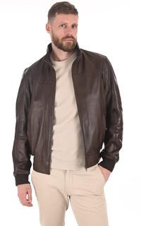 Blouson confort cuir marron