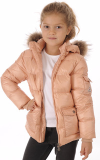 Doudoune Authentic Jacket Rose Poudré Fille