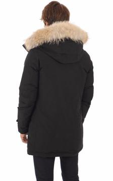 Doudoune Polar noire avec fourrure