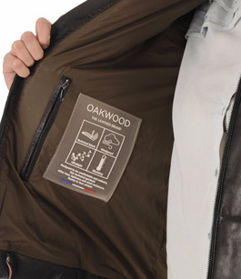 Doudoune Oversize Cuir Noir Oakwood