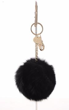 Porte-clé lapin noir