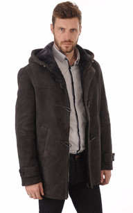 Duffle-Coat Merinos Anthracite Homme
