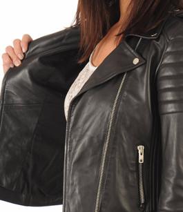 Blouson cuir Hipster Girl Noir Serge Pariente
