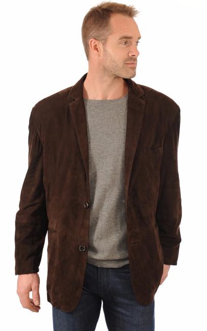 blazer cuir velours marron smarty la canadienne veste 3 4 nubuck et daim chocolat. Black Bedroom Furniture Sets. Home Design Ideas