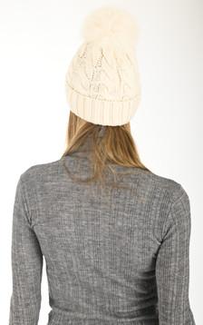 Bonnet en laine écru