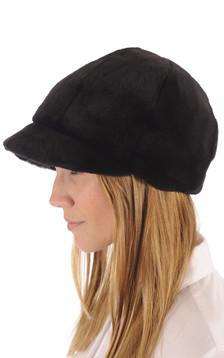 Casquette Fourrure Noir de Vison
