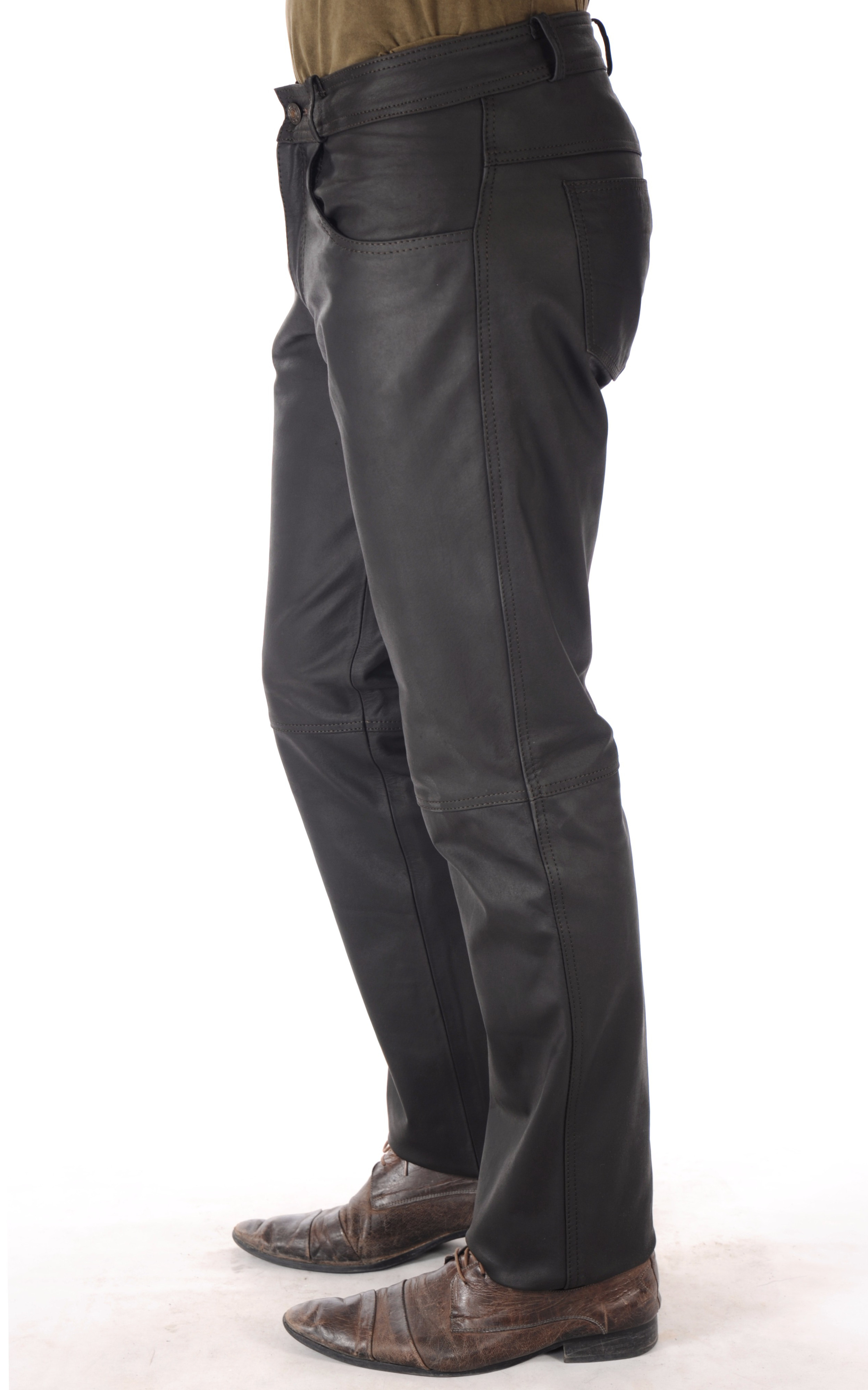 Pantalon Cuir Nubuck Homme Last Rebels