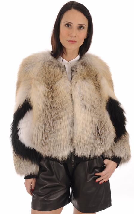 0ce4bbb8c5e1 Blouson, veste, manteau en fourrure pour femme   Renard, Vison ...