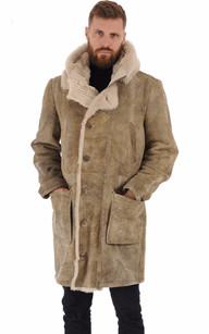 Manteau peau lainée esprit vintage