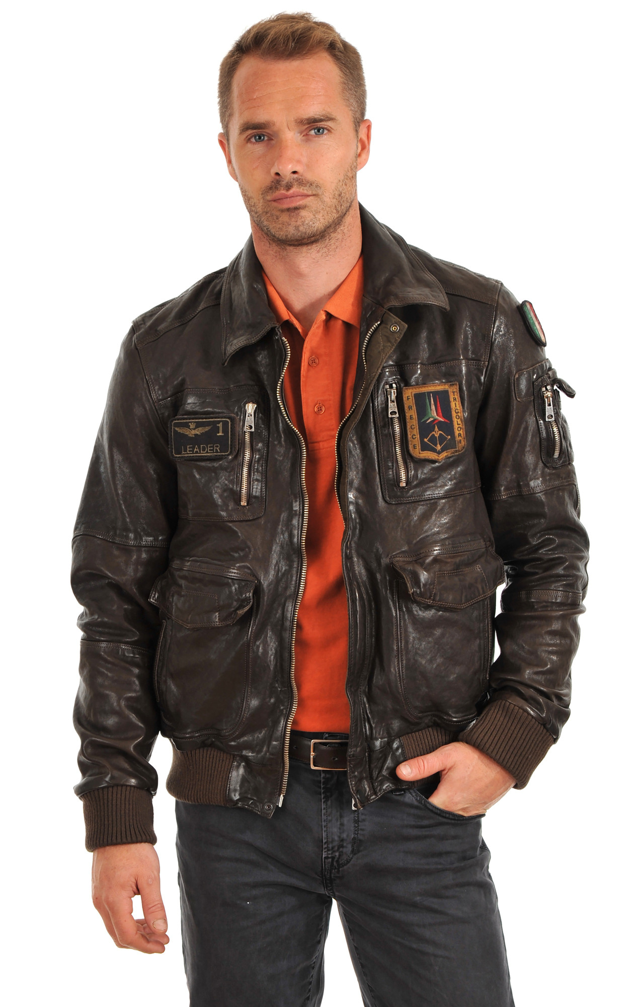 Blouson Cuir Aviation Italienne1