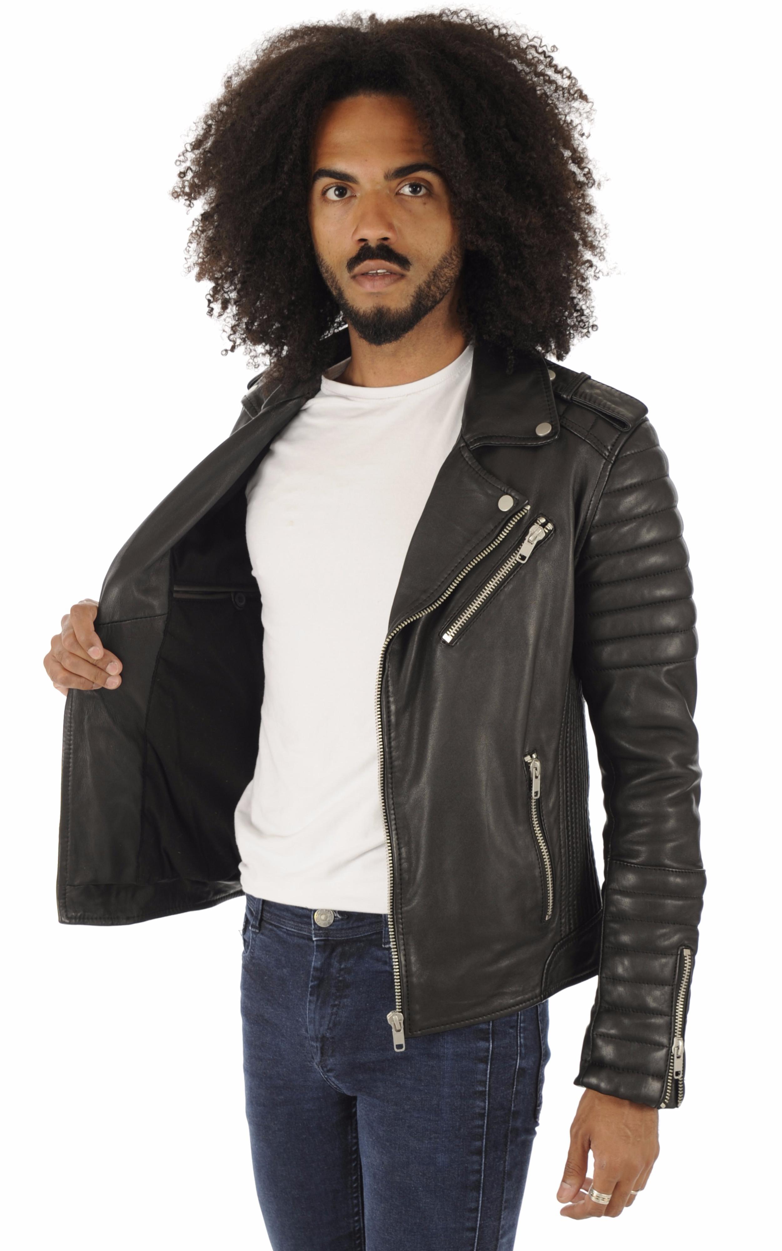 Blouson Hipster Noir Serge Pariente