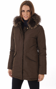 Parka Luxury Artic Fox Marron Foncé1