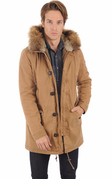 Parka army camel homme1