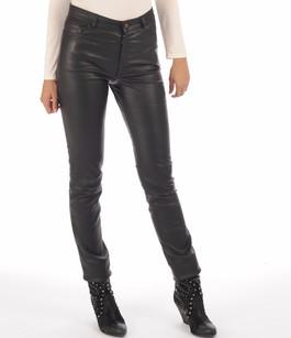 Pantalon cuir stretch noir femme La Canadienne