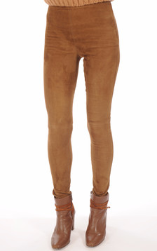 Legging Velours Stretch Cognac1