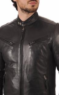 Veste cuir mont noir