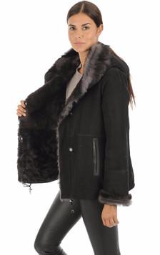 Peau lainée Alma noire