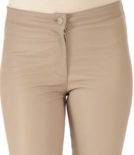 Pantalon Cuir Stretch Crème Sartori Dodici