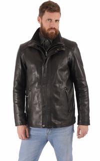 Veste cuir de vachette noir homme