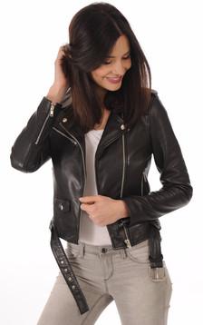 Blouson Rock Girl noir