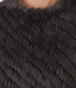 Poncho en Lapin Anthracite Oakwood