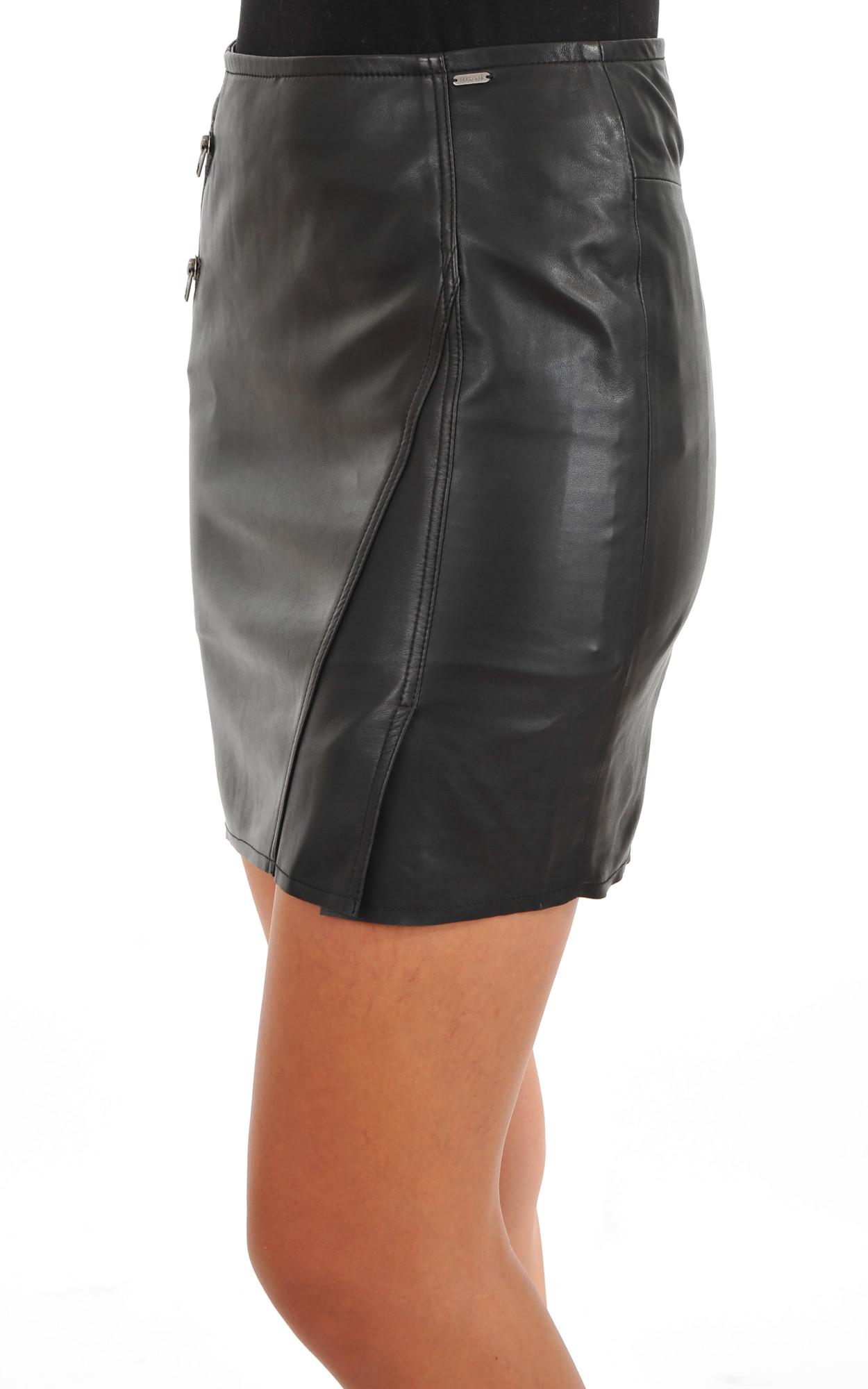 Mini Jupe Cuir Noir