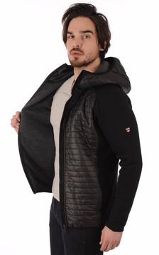 Pull Zippé Noir en Laine Sport-Chic